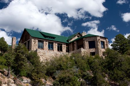 Grand Canyon Lodge is the only lodging inside the National Park on the North Rim. Located at Bright Angel Point, the Lodge was declared a National Historic Landmark in 1987. photo