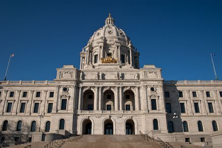 capitals: The Minnesota State Capitol is located in Minnesotas capital city, Saint Paul, and houses the Minnesota Senate, Minnesota House of Representatives, the Office of the Attorney General and the Office of the Governor.