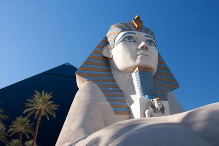 The Luxor is a hotel and casino located on the Las Vegas Strip which feature a large replica of a Sphinx.
