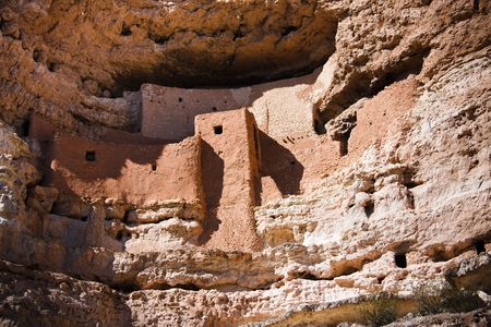 dwellings: Montezuma Castle National Monument, located near Camp Verde, Arizona, in the Southwestern United States, features well-preserved cliff dwellings.
