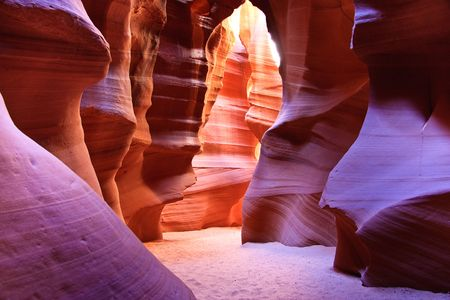 slot canyons: Antelope Canyon is the most photographed slot canyon in the American Southwest. It is located on Navajo land near Page, Arizona.