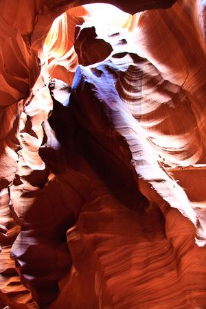 Antelope Canyon is the most photographed slot canyon in the American Southwest. It is located on Navajo land near Page, Arizona. photo