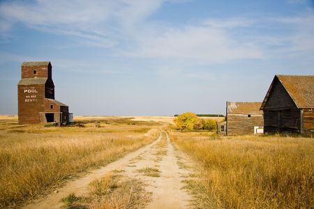 Prairie grain elevators once dotted western Canada, storage for farmers crops. Now the majestic sentinals are being demolished and part of Canadian tradition is vanishing. photo
