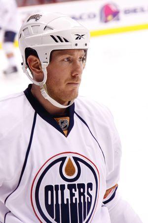 PHOENIX - APRIL 4: Defenseman Ryan Whitney of the NHL Edmonton Oilers of the National Hockey League. April 4, 2010 in Phoenix, Arizona.