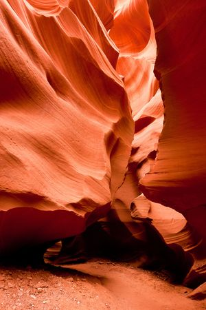 fissures: Antelope Canyon is possibly the most-photographed of Arizonas sandstone slot canyons. The glowing orange colors of the water carved, narrow fissures feature in many beautiful images.