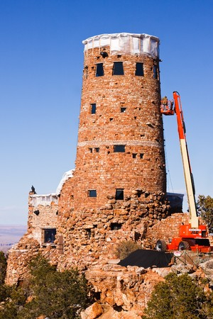 GRAND CANYON, AZ - APRIL 6:   Desert View Watchtower to Undergo Renovations.  April 6th, 2010 in Grand Canyon National Park, Arizona.