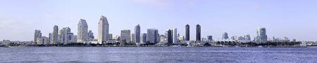 panorama city panorama: la ciudad de Skyline San Diego en el sur de California, Estados Unidos.