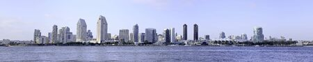 panoramic business: the city of San Diego Skyline in Southern California, USA.