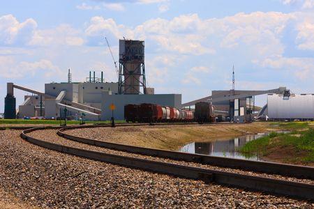 saskatchewan: Cory Potash Mine located south west of Saskatoon, Canada. Stock Photo