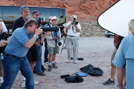 LAS VEGAS - AUG 31: NAPP (National Association of Photoshop Professionals) photo safari with Joe McNally. Aug 31, 2010 Valley of Fire, Nevada.