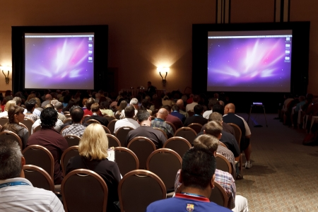 LAS VEGAS - SEPT 1: Photoshop World 2010 conference classroom. September 1, 2010 in Las Vegas, Nevada. Stock Photo - 7840118