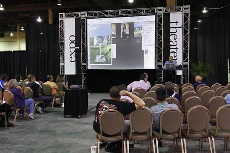 auditorium: LAS VEGAS - SEPT 1: Photoshop World 2010 conference classroom. September 1, 2010 in Las Vegas, Nevada.