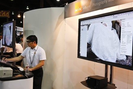photoshop: LAS VEGAS - SEPT 1: Vendor, Nik Software, at Photoshop World 2010 conference and expo. September 1, 2010 in Las Vegas, Nevada.
