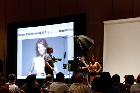 projection: LAS VEGAS - SEPT 2: Photoshop World 2010 conference and expo. September 2, 2010 in Las Vegas, Nevada. Editorial