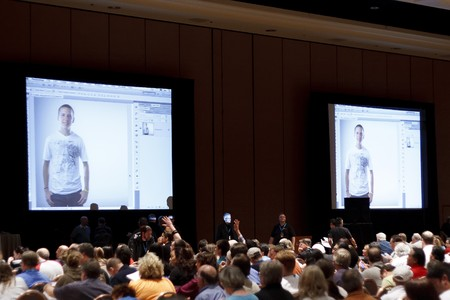 auditorium: LAS VEGAS - SEPT 3: Photoshop World 2010 conference and expo. September 3, 2010 in Las Vegas, Nevada. Editorial