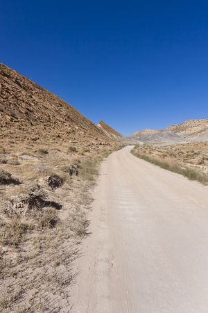 Driving the Cottonwood Canyon Road in Grand Staircase Escalante National Park, Utah photo