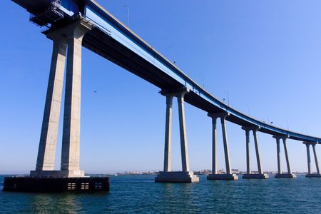 linking: San Diego - Coronado Bridge, locally referred to as the Coronado Bridge, is a concrete & steel girder bridge, crossing over San Diego Bay in the United States, linking San Diego, with Coronado, California.