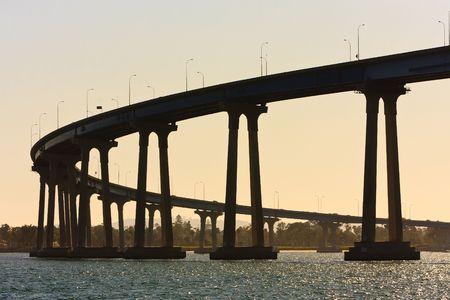 San Diego - Coronado Bridge, locally referred to as the Coronado Bridge, is a concrete & steel girder bridge, crossing over San Diego Bay in the United States, linking San Diego, with Coronado, California. photo