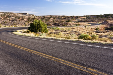 curve road: A windy road found in Canyonlands National Park.