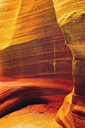 Antelope Canyon is the most-visited and most photographed slot canyon in the American Southwest located on Navajo land near Page, Arizona, USA. photo
