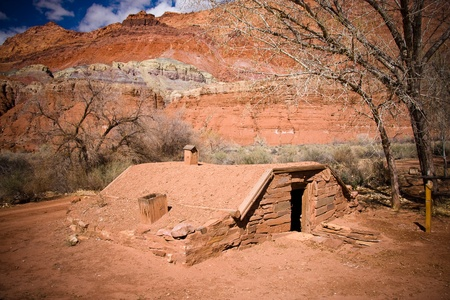 Historic buiding at the Lonely Dell Ranch Historic Distric in Northern Arizona Stock Photo - 8768004