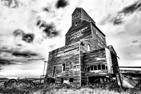abandoned: Grain elevator on the Canadian prairies