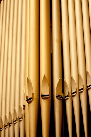 organ: Organ pipes at the Third Avenue United Church in the city of Saskatoon, Canada