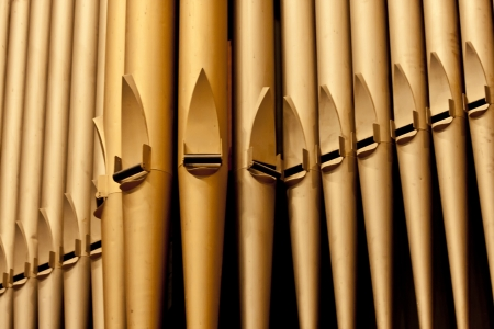 Organ pipes at the Third Avenue United Church in the city of Saskatoon, Canada