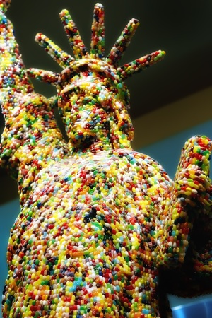 Statue of Liberty created with Jelly Beans photo