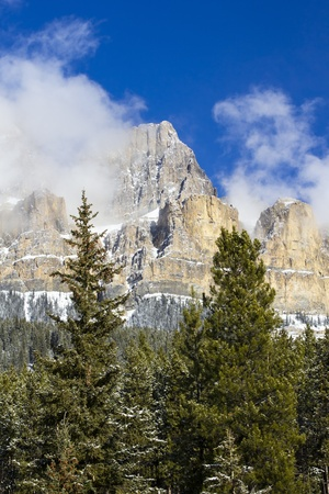 Castle Mountain in Banff National Park, Alberta, Canada photo