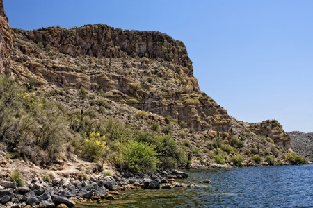 Saguaro Lake is located within the Tonto National Forest just minutes from Mesa, Arizona.
