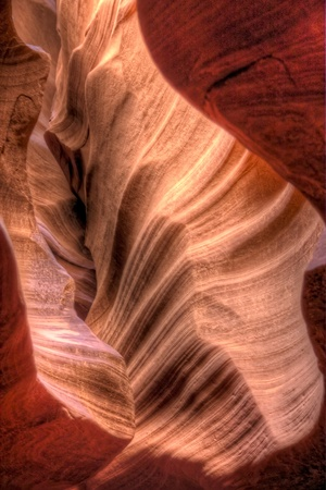 Texture of the erosion carved by water flowing through Antelope Canyon, Arizona. photo