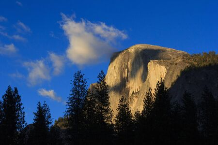 Last light on half dome in Yosemite National Park Stock Photo - 15703672