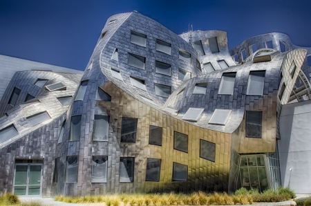 The Cleveland Clinic Lou Ruvo Center for Brain Health is a creation by modernist architect Frank Gehry which shines brightly in Las Vegas,Nevada.