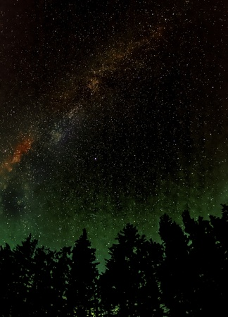 The milky way and radiant glow over the horizon photo