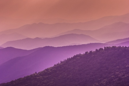 appalachian: Amazing view from Clingmans Dome, Great Smoky Mountains National Park, Border of North Carolina and Tennessee
