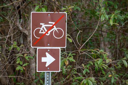 Nature trail no bikes