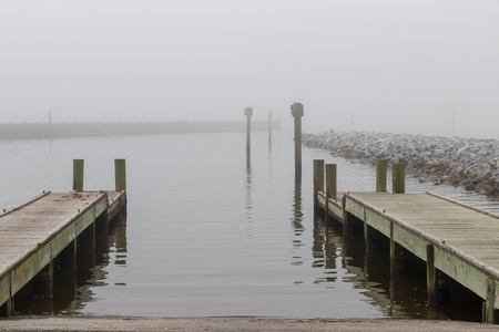 Boat Launch on a foggy day