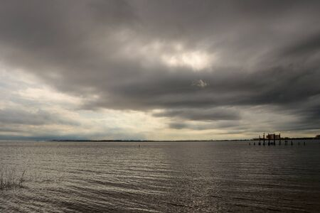 Cloudy Day at the bay