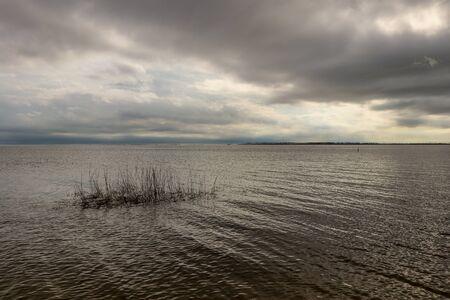 Cloudy day at the beach Banco de Imagens