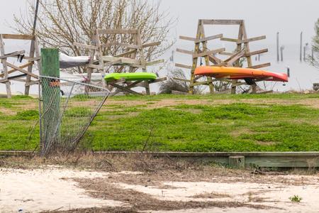 Colorful Kayak area