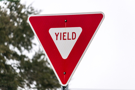 A yield sign