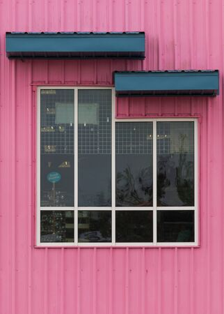 Pink and white windows