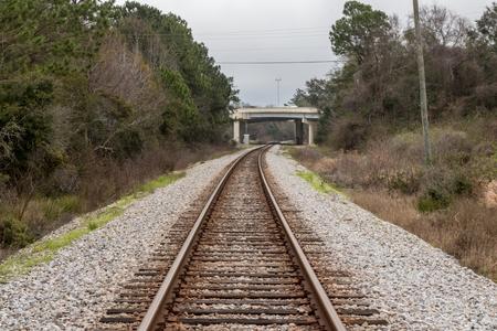 Railroad tracks perspective Banco de Imagens
