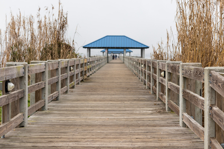 Fishing pier perspective