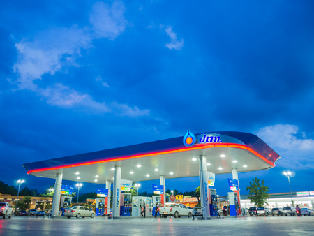 Songkhla, Thailand - Sep 9, 2017: PTT gas station. PTT Public Company Limited or simply PTT is a Thai state-owned SET-listed oil and gas company.Formerly known as the Petroleum Authority of Thailand. Editorial