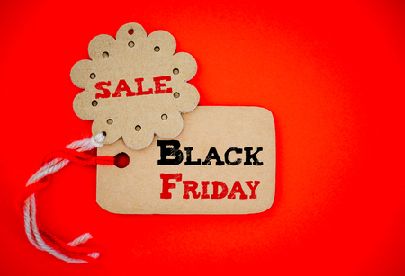 Label shopping tags for online shopping of Black Friday sale concept.