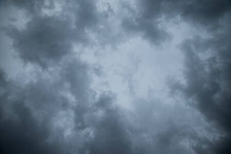 Abstract texture background of Dark sky with storm clouds. Stock Photo