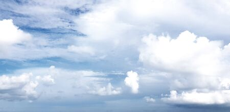 clear blue sky with white cloud background. Clearing day and Good weather in the morning.