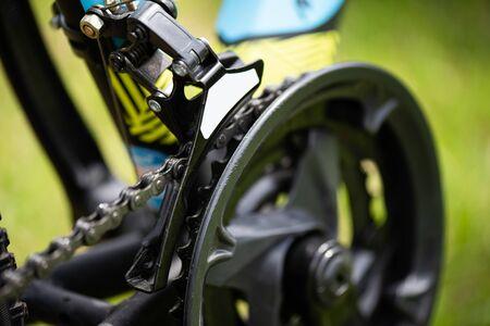 Pédalier de vélo, pièces de roue de vélo, chaîne, dérailleur avant dérailleur cadre de vélo de route.